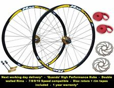 "29"" 29er Mountain MTB Bike 8/9/10 Speed Disc Brake Wheel Set + Rotors"