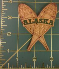 Alaska Magnet - Crossed Snow shoes magnet - resin style snowshoe, showshoes