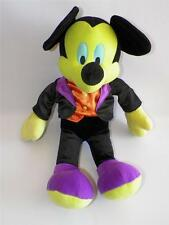 Disney Store Green Purple Mickey Mouse Haunted Mansion Halloween Plush 21""