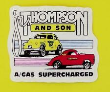 jr.THOMPSON and son A/GAS SUPERCHARGED.Decal Sprint,Midget Stock cars tool box