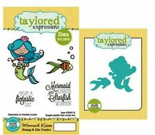 Taylored Expressions Rubber Cling Stamp(5) & Die(2) Set  MERMAID KISSES ~TEPS175