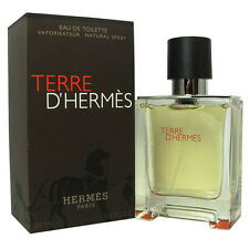Terre D' Hermes for Men 1.6 oz 50 ml EDT Eau de Toilette Spray New in Box NIB