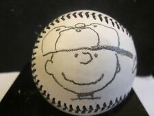 Charles Schulz Novelty Autographed Baseball with Charlie Brown Sketch