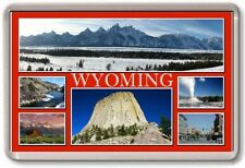 FRIDGE MAGNET - WYOMING - Large - USA America TOURIST