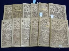 1886 THE CENTURY ILLUSTRATED MONTHLY MAGAZINE LOT OF 12 - STEVENSON - WR 126