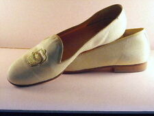 ZALO Embroidered Gold Nantucket Lightship Baskets/Yellow Canvas Slip-On Shoes 7B