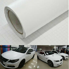 "12x60"" Matte White Vinyl Film Wrap Car DIY Sticker Vehicle Decal 3D Bubble Free"