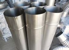 SET OF STEEL FLUE PIPES (2 PIPES + 1 ELBOWS) 100 MM DIAMETER