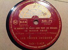 Les FRERES JACQUES chantent PREVERT - KOSMA -POLYDOR 560.172 - 78 rpm et la Fete