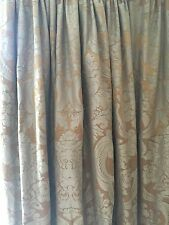 Stunning Luxury Damask Style Curtains Gold & French Olive/Grey, Massive Opulent