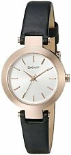 DKNY Women's NY2458 'Stanhope' Black Leather Watch