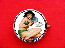 CRYSTAL BALL GYPSY PSYCHIC ROUND METAL PILL MINT CASE