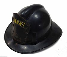 MSA FIRE HELMET With Leather Badge and Adjustable Liner Size 7 3/8