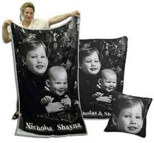 """Personalized Photo Throw Blanket Knitted to your Photo! 40""""x60"""""""