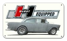 HURST Floor Shifter Equipped Streed Rod Muscle Car Retro Sign Blechschild Schild