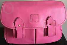 NWOT*Dooney & Bourke*Pink*Florentine Leather*Saddle Bag*Messenger* #17093D S228