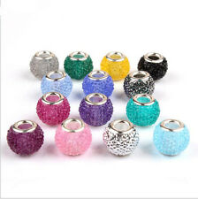 20pcs Mixed SILVER MURANO Candy bead  LAMPWORK Fit European Charm Bracelet