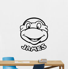 Custom Name Turtles Ninja Wall Decal Personalized Boy Vinyl Sticker Art 136crt