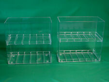 "Two (2) Display Cases for E-Juice, E-Cigarette, E-liquid, 1¼"" Slot Size"
