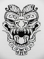 Aztec totem mask myths Magic stickers/car/van/bumper/window/decal 5289 Black