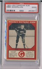 EBBIE GOODFELLOW 1933-34 Canadian Gum V252 PSA 2 GOOD RED WINGS HOF RARE LOW POP