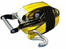 "Premium Tie Down Straps 2"" x 27' 10000 lbs with Expandable Handle and Loop Easy"