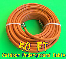 RG6 Quad F Direct Burial Orange 50 feet Coax/Coaxial Cable Outdoor Underground