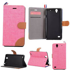 Luxury Flip Cover Stand Wallet PU Leather Case For Sony Xperia Mobles