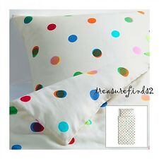 NEW IKEA PS 2012 Polka Dot White 100% Linen Twin Duvet cover with PillowCase