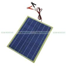 20W Epoxy Solar Panel 20W Power W/ 2m Cable & 30A Clip for 12V Car Boat Battery