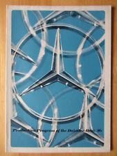 MERCEDES Production Program 1978 UK Mkt brochure poster - Cars Vans Trucks Buses