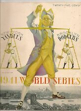 1941 World Series Program Yankees-Dodgers Yankee Stadium Edition NICE!!
