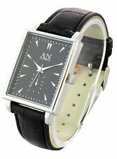 AN London Designer Leather Strap & Square Shaped Unisex Fashion Watch –AN2216