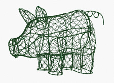 "Pig 7 H X 10""W X 5""D Animal Topiary Frame, Made at SK topiary"