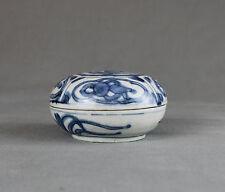 Blue Chrysanthemum Chinese Shipwreck Porcelain Box Kangxi c1660