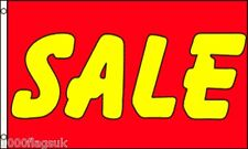 SALE Yellow on Red Shop Advert Sign Advertising POS 5'x3' Flag !