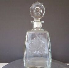 John Macnaughton Maple Leaf Canadian Whiskey Decanter with Stopper