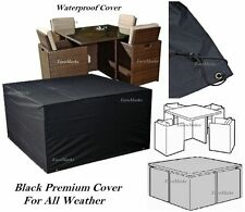 214x214x68 SQUARE WATERPROOF OUTDOOR GARDEN PATIO CUBE RATTAN FURNITURE COVER