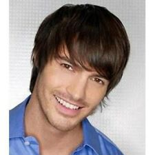 100% Real Hair Virile ,Short Dark Brown ,Straight Wig For Men Human Hair