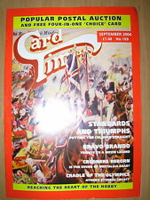 CARD TIMES MAGAZINE FORMERLY CIGARETTE CARD MONTHLY No 169 SEPTEMBER 2004