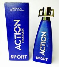 TRUSSARDI ACTION EAU DE SPORT Edt 100ml Splash VINTAGE PERFECT! Perfume Parfum!