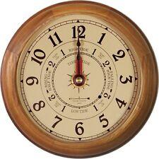 """6"""" OAK TIDE & TIME CLOCK BY WEST & CO."""