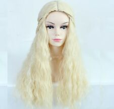 NEW Game of Thrones Daenerys Targaryen Wig Blonde Curly Wavy Halloween Costume