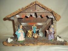 Vtg. Lighted Nativity Creche, Made in Italy, Christmas Holiday Decoration