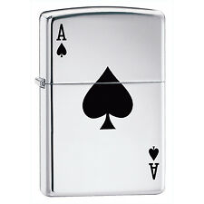 Zippo Lucky Ace Lighter 24011 Chrome