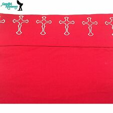 4 Pcs Western Style Cross Polyester Sheet Set Red Queen