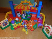 FISHER PRICE LITTLE PEOPLE TOUCH FEEL CARNIVAL BIG TOP CIRCUS TRAIN ANIMALS LOT