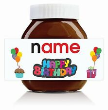 3 x Personalised Birthday Label for 750g Nutella Jar!