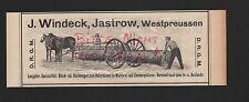 JASTROW, Werbung 1908, J. Windeck Block-Rück-Wagen