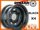 SET OF 4 BLACK 4X4 DYNAMIC SUNRAYSIA WHEELS 15X8 6/139.7 OR 5.5 4WD RIM PATROL